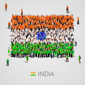 A flag showing the Diversity of India