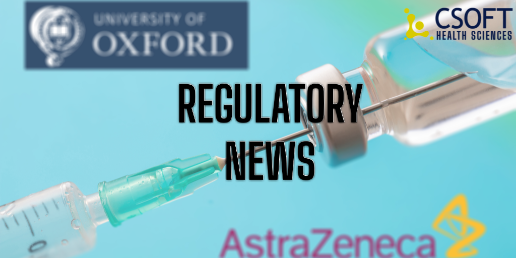 EMA Approves AstraZeneca and University of Oxford COVID-19 Vaccine
