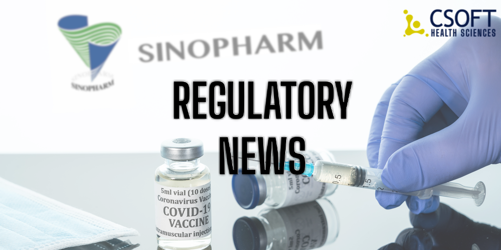 Sinopharm Unit and CanSinoBio apply for Public Use Approval of COVID-19 Vaccine in China