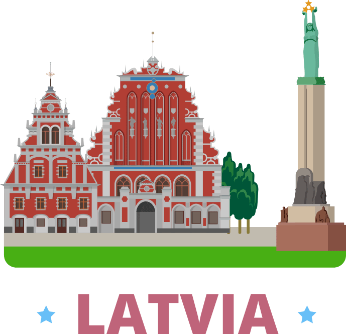 Latvia, home of Latvian translations into all kinds of dialects