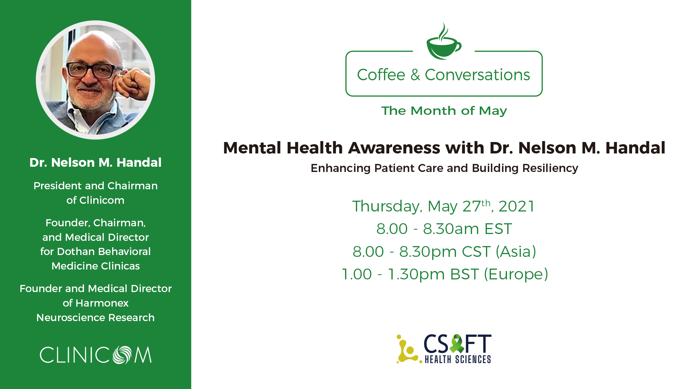 Coffee & Conversations: May Edition of Mental Health Awareness